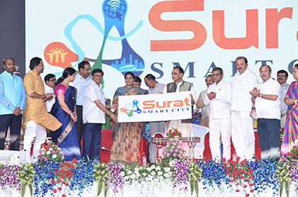 Surat Smart City Logo Launching Photo No - 1