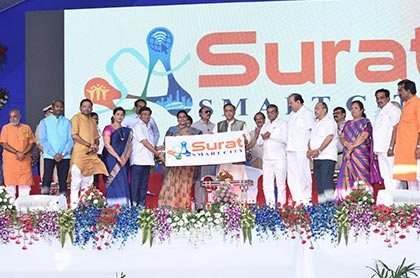 Surat Smart City Logo Launching Photo No - 2