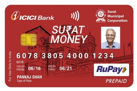 SuratMoney Card - Front View
